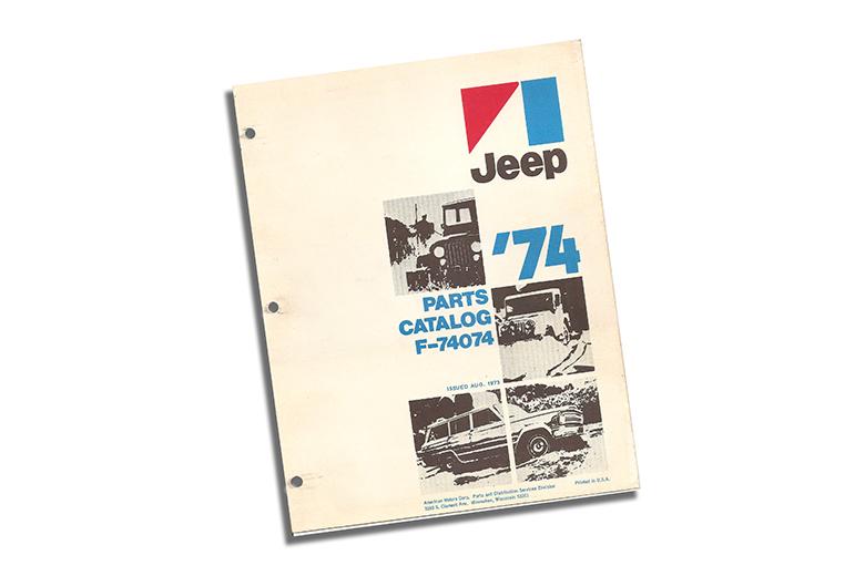 1974 Jeep Parts Catalog