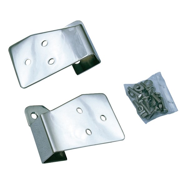 MIRROR RELOCATION BRACKET PAIR, STAINLESS, 03-06 WRANGLER