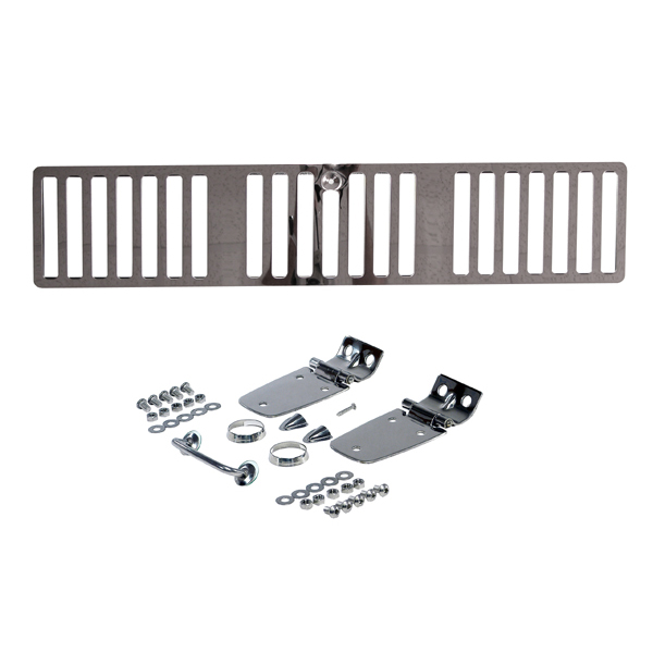COMPLETE HOOD KIT, 97 JEEP WRANGLER (HOOD CATCHES NOT INCLUDED), STAINLESS