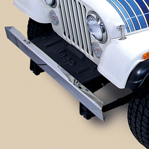 FRONT BUMPER WITHOUT HOLES, STAINLESS, 55-86 CJ