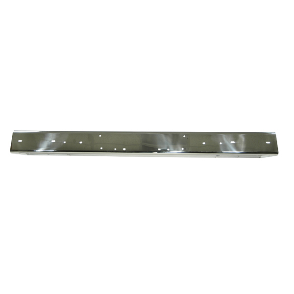 FRONT BUMPER WITHOUT HOLES, STAINLESS, 87-95 WRANGLER