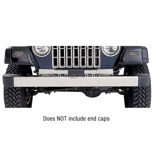 FRONT BUMPER WITHOUT HOLES, STAINLESS, 97-06 TJ WRANGLER