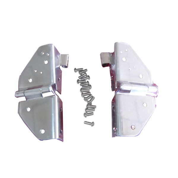 WINDSHIELD HINGES, 76-95 JEEP CJ & WRANGLER, STAINLESS