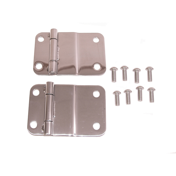LOWER TAILGATE HINGE, 76-86 JEEP CJ, STAINLESS