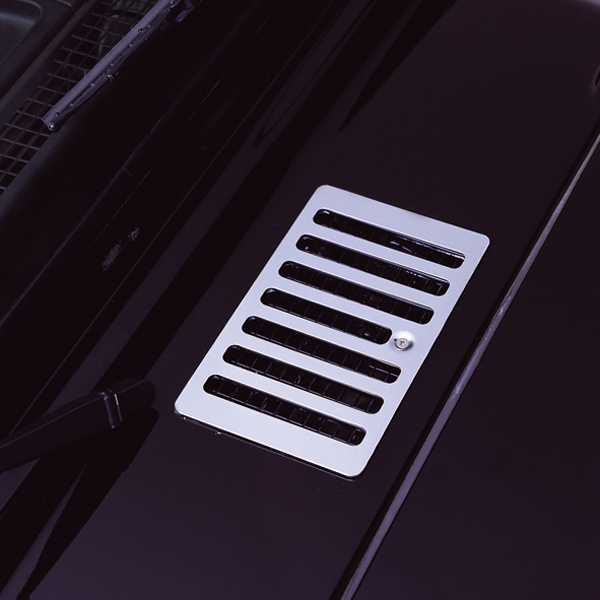 HOOD VENT COVER, 98-06 JEEP WRANGLER/UNLIMITED, STAINLESS