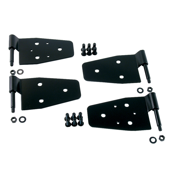 DOOR HINGE KIT,97-06  JEEP WRANGLER WITH STEEL HALF DOORS, BLACK