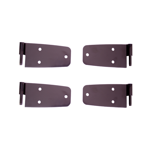 DOOR HINGE KIT, JEEP CJ7, SCRAMBLER,76-93WRANGLER WITH FULL STEEL DOORS, BLACK