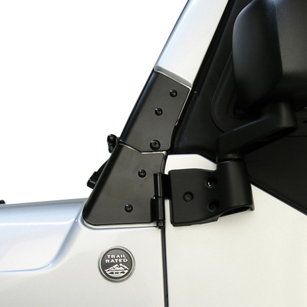 WINDSHIELD HINGES, 97-06 JEEP WRANGLER, BLACK