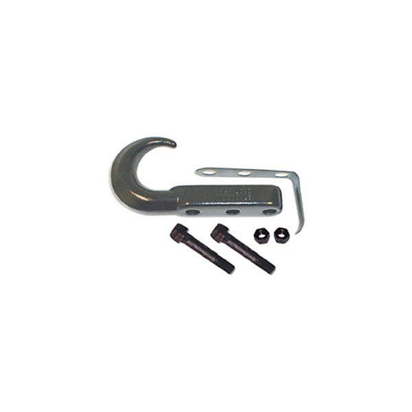 TOW HOOK, 42-04JEEP CJ & WRANGLER, BLACK EACH (NOT SOLD AS PAIR)