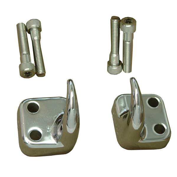 TOW HOOK, 97-06 JEEP WRANGLER, FRONT (PAIR), CHROME