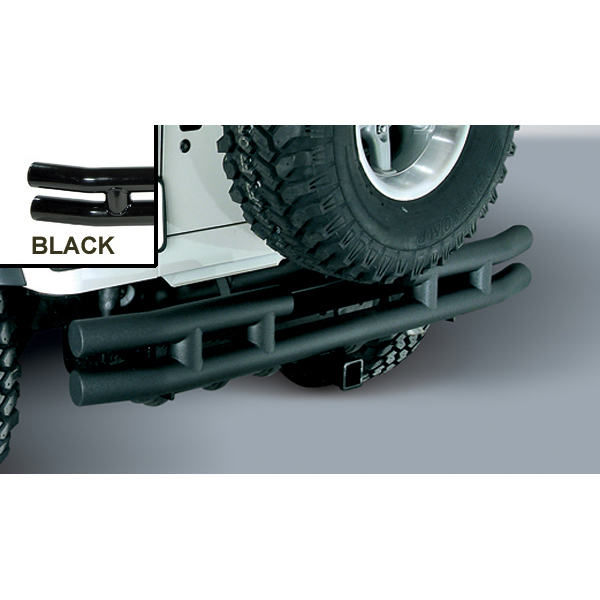 REAR TUBE BUMPER WITH HITCH, BLACK, 87-06 JEEP WRANGLER/UNLIMITED (TWO BOXES)