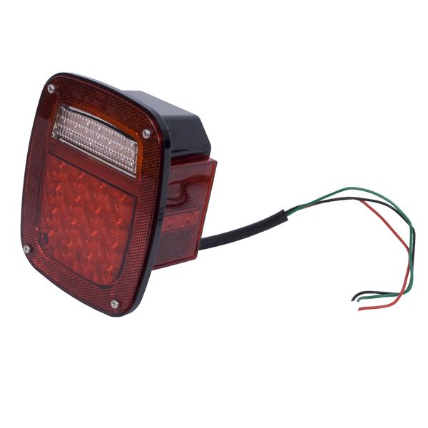 LED TAIL LIGHT ASSEMBLY RH, JEEP CJ 76-86, YJ 87-95, TJ 97-06