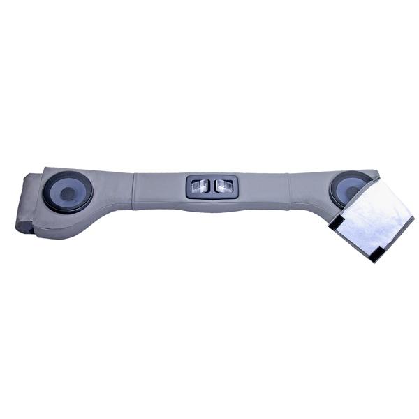 SOUND BAR, 2 SPEAKER, UPHOLSTERED GRAY, 87-06 WRANGLER/UNLIMITED