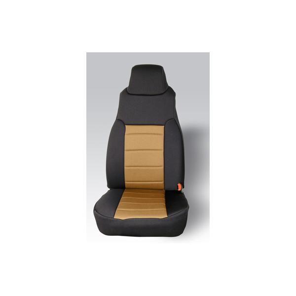 NEOPRENE SEAT COVER, RUGGED RIDGE,  FRONTS (PAIR), TAN, 97-02 WRANGLER