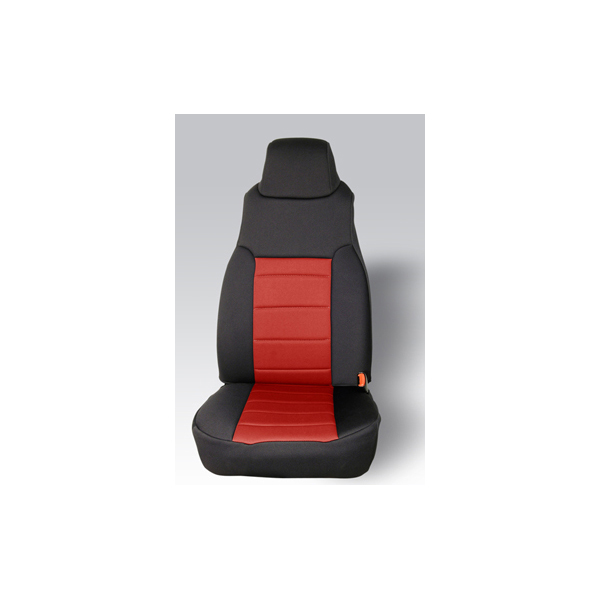 NEOPRENE SEAT COVER, RUGGED RIDGE,  FRONTS (PAIR), RED, 97-02 WRANGLER