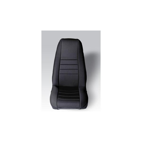 NEOPRENE SEAT COVER, RUGGED RIDGE,  FRONTS (PAIR), BLACK, 76-90 WRANGLER