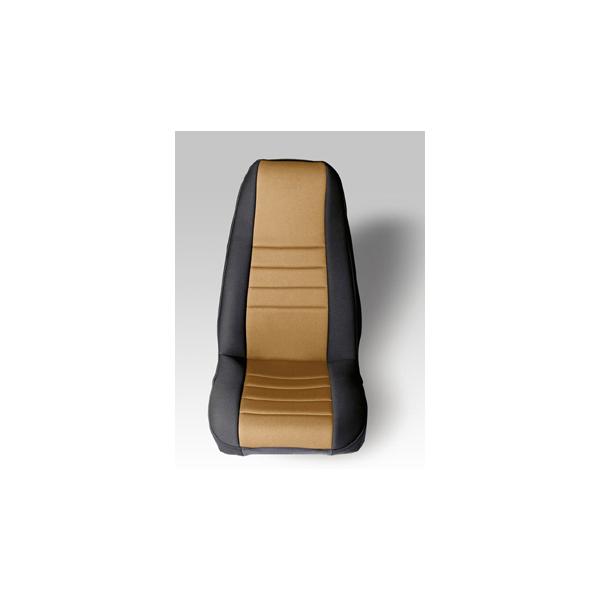 NEOPRENE SEAT COVER, RUGGED RIDGE,  FRONTS (PAIR), TAN, 76-90 WRANGLER