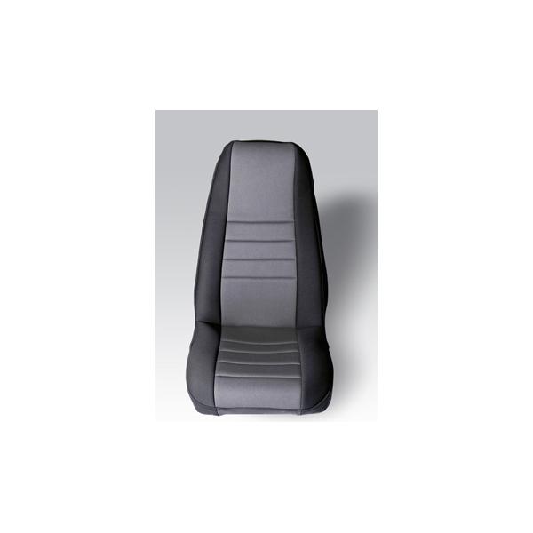 NEOPRENE SEAT COVER, RUGGED RIDGE,  FRONTS (PAIR), GRAY, 76-90 WRANGLER