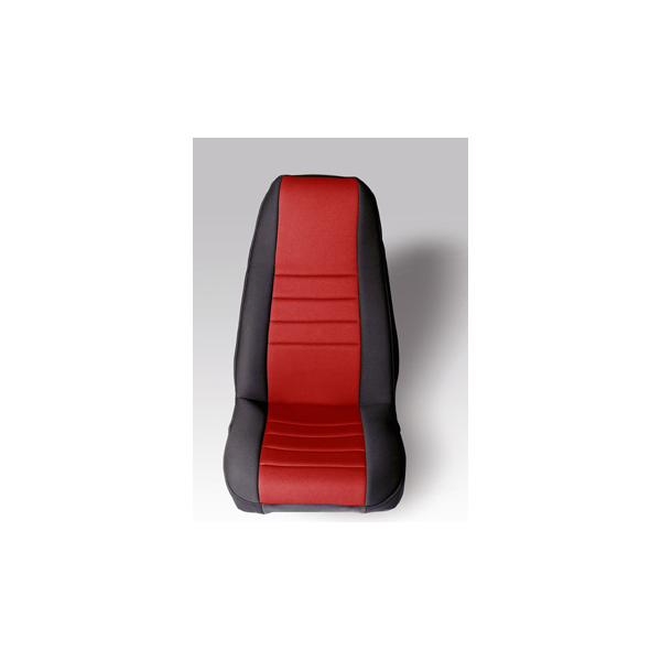 NEOPRENE SEAT COVER, RUGGED RIDGE,  FRONTS (PAIR), RED, 76-90 WRANGLER