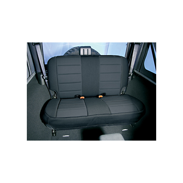 NEOPRENE SEAT COVER, RUGGED RIDGE,  REAR, BLACK, 97-02 WRANGLER