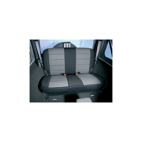 NEOPRENE SEAT COVER, RUGGED RIDGE,  REAR, GRAY, 97-02 WRANGLER
