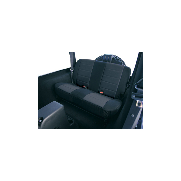 SEAT COVER, RUGGED RIDGE, FABRIC REAR, BLACK, 97-02 WRANGLER