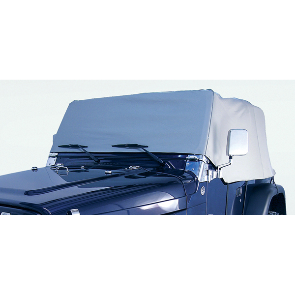 WATER RESISTANT VINYL CAB COVER, 76-86 JEEP CJ7, GRAY