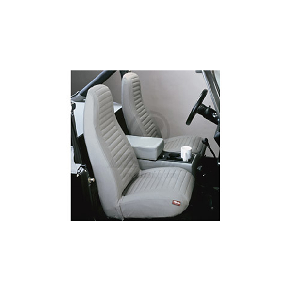 SEAT COVER, FRONT PAIR GRAY 92-94