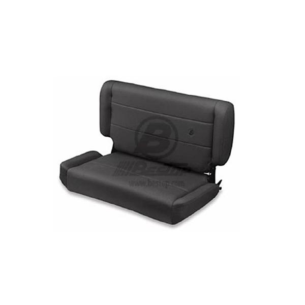 SEAT FOLD & TUMBLE REAR FABRIC TJ BLACK DENIM