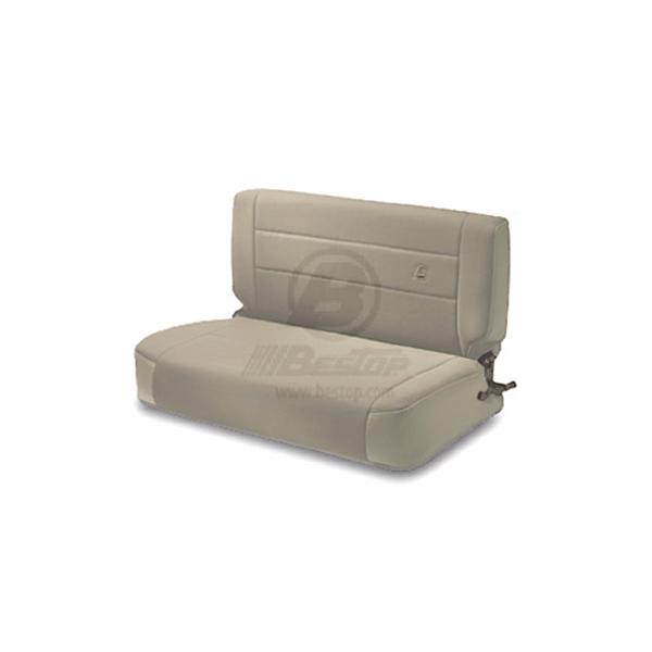 REAR FABRIC SEAT, FOLD & TUMBLE TAN