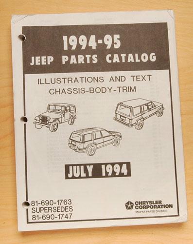 Jeep Parts Catalog 1994-95