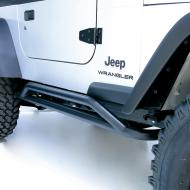 RRC ROCKER GUARDS, TEXTURED BLACK, 87-06 JEEP WRANGLER/UNLIMITED 