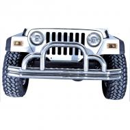 DEFENDER TUBULAR FRONT BUMPER, STAINLESS, 55-06 CJ & WRANGLERThis stainless steel bumper is constructed of thick 3-inch tubular steel and includes end caps. This bumper is as tough as it looks with additional tubing added around the hoop. Include all necessary hardware. additional tubing added around the hoop. Include all necessary hardware.                         Replaces: MS-9420Made in TAIWANUPC: 804314076870Label: 11521.01 DEFENDER FRT SS 55-06