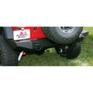 """BUMPER REAR XHD, TEXTURED BLACK, RUGGED RIDGE JK 07-09Make the most of your rear bumper with our XHD Rear Bumper System. Features easy installation, amazing looks and two reinforced heavy duty D-Ring attachment points. Special """"inner mounting plate"""" provides an extremely secure mounting point - attachment points. Special """"inner mounting plate"""" provides an extremely secure mounting point - strong enough for offroad use! The two-piece design allows use with and without tire carrier options. Heavy duty powdercoated steel design looks great but is extremely tough. Mount on the optional Tire Carrier and you can hold up to a 35"""" tire.                   Replaces: 11546.20Made in CHINAUPC: 804314116699Label: BUMPER REAR XHD TEX BLACK JK"""