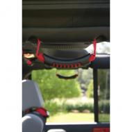GRAB HANDLE PAIR ULT REAR JK RED 07-09Rear Side Grab Handles offer easy entry and exit attach directly into factory mounting holes with your original hardware. They also double as Front Seat Grab Handles by easily attaching to the windshield pillar with supplied hardware. Seat Grab Handles by easily attaching to the windshield pillar with supplied hardware.                         Replaces: 13305.15Made in TAIWANUPC: 804314119720Label: GRAB HANDLE PR ULT REAR JK RED