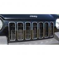 GRILLE INSERTS CHROME KJ 02-04, 7 PCS