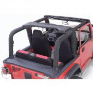 ROLL BAR COVER KIT (FULL KIT), 92-95 JEEP WRANGLER, DENIM BLACK