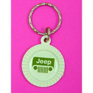 KEY CHAIN JEEP GRILLE ROUNDReplaces: 14801.02Made in USAUPC: 804314123116Label: KEY CHAIN JEEP GRILLE ROUND F9