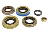 This is a Pinion seal kit for a Dana 30 Front axle. This kit includes the following: Inner Pinion Seal:(99-00) 5012454AA or Inner Pinion Seal:(01-04) 5066446AA Outer Pinion Seal: 5012453AA Pinion nut: 5017755AA  A leaking pinion seal can cause axle failure and costly repairs due to lack of fluid in the axle. Save yourself in the long run and get your seal fixed today!