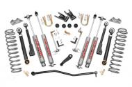 """6.5"""" Jeep suspension lift, will fit 1986-1993 Jeep Comanches. *Kit includes front coil springs, front upper & lower adjustable control arms, transfer case drop kit, front adjustable track bar, adjustable swaybar disconnects, power steering pitman arm, brake line relocating brackets, 4 Heckethorn 8000 series shocks, and rear lift shackles.*Kit requires rear leaf spring axle flip and includes new leaf spring mounting plates.Welding is Required *Recommended tire size: 33x10.50*Install time: 8-10 hours*Includes installation instructions."""