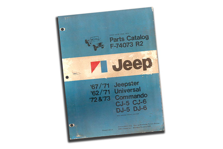 1962 to 1973 Jeep parts Catalog revision 2