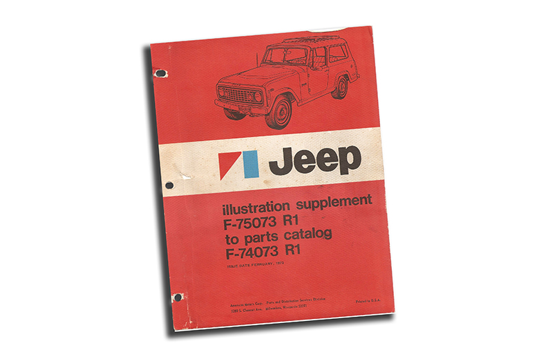 1967 To 1973 Jeep Parts Catalog Revision 1 No Longer Available