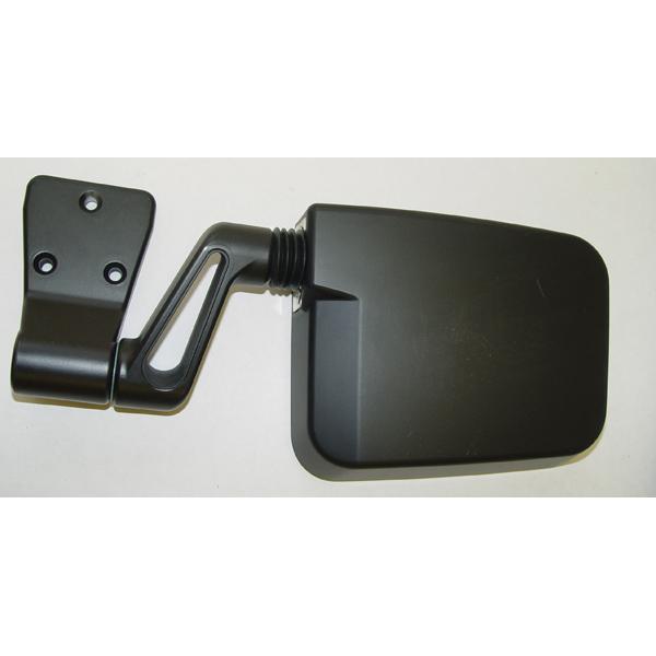 SIDE MIRROR, BLACK, LEFT ONLY, 87-02 HALF DOOR, 94-02 FULL DOOR WRANGLER