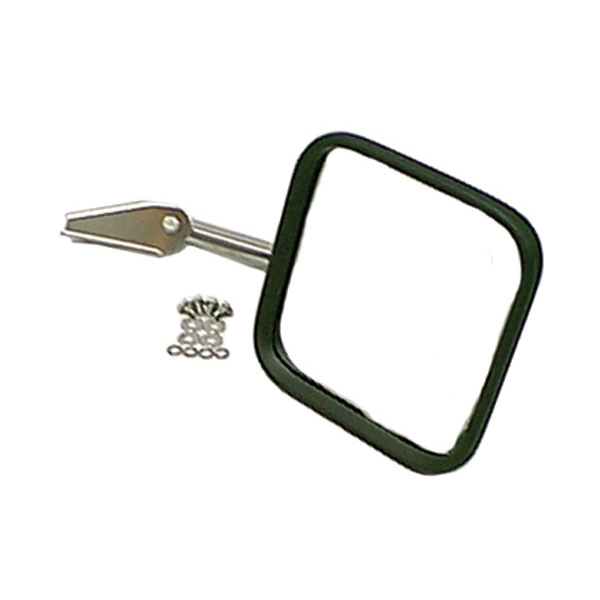 MIRROR & ARM ONLY, RH, CHROME, 58-86 CJ