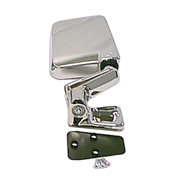 MIRROR, RIGHT ONLY, 87-02 HALF DOOR, 94-02 FULL DOOR WRANGLER, CHROME