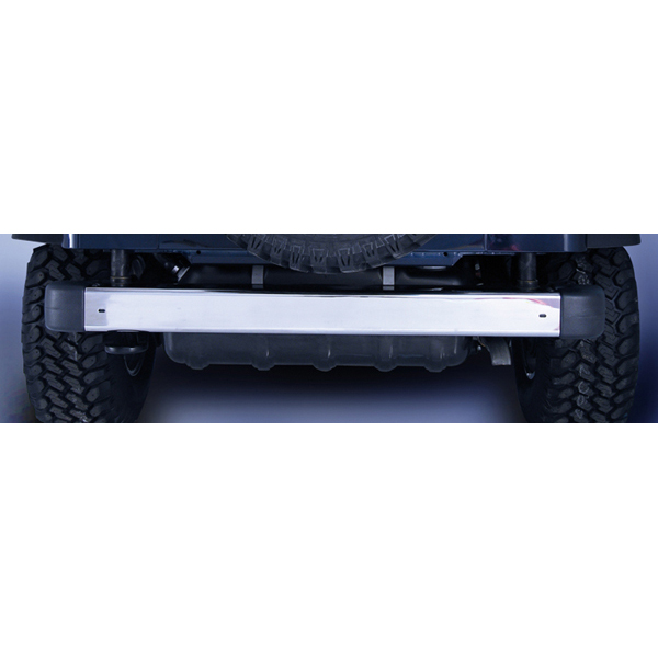 REAR BUMPER,WITHOUT HOLES, STAINLESS, 97-06 TJ WRANGLER