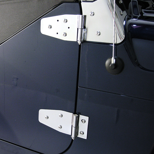 WINDSHIELD HINGES, 97-06 JEEP WRANGLER, STAINLESS
