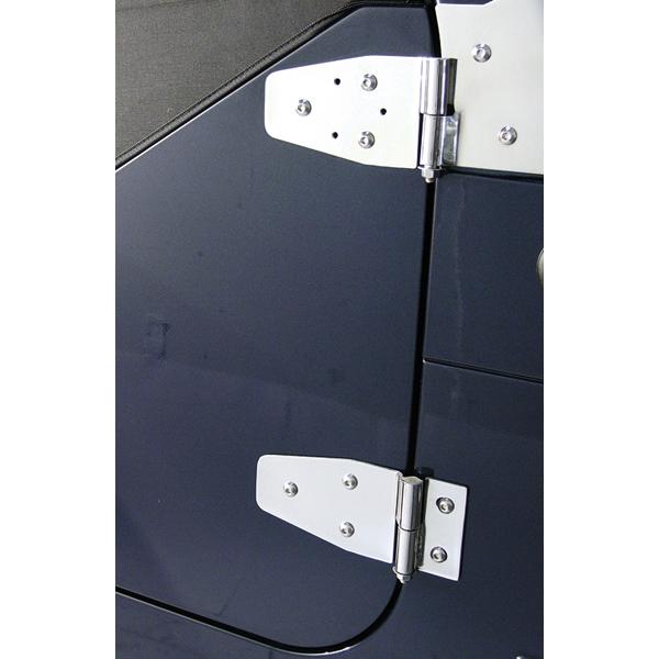DOOR HINGES, 94-95 JEEP WRANGLER WITH FULL STEEL DOORS, STAINLESS