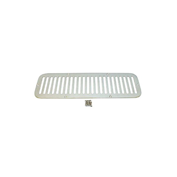 HOOD VENT COVER, 55-75 JEEP CJ, STAINLESS