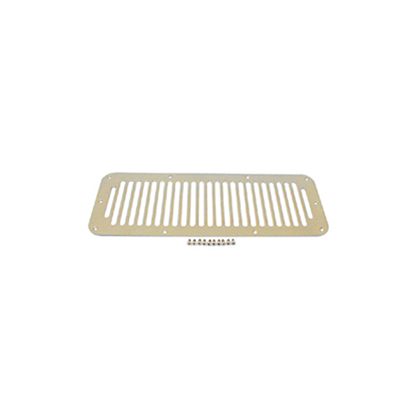 HOOD VENT COVER, 76-95 JEEP CJ & WRANGLER, STAINLESS